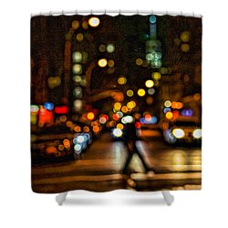 City Nights, City Lights Shower Curtain by Jeffrey Friedkin