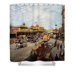 Shower Curtain featuring the photograph City - Ny - A Hundred Some Years Ago 1900 by Mike Savad