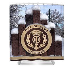 City Of Alma Michigan Snow Shower Curtain