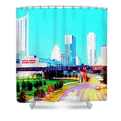 City Of Austin From The Walk Bridge 2 Shower Curtain