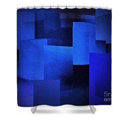 Night In The City Of Blues Shower Curtain