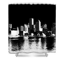 City Of Boston Skyline   Shower Curtain by Enki Art