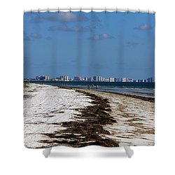 City Of Clearwater Skyline Shower Curtain