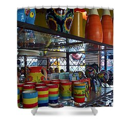Shower Curtain featuring the photograph City Of Color by Andrew Drozdowicz