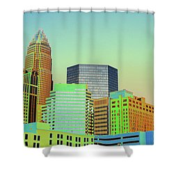 City Of Colors Shower Curtain by Karol Livote