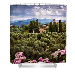 City Of Florence Shower Curtain