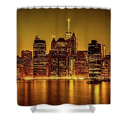 Shower Curtain featuring the photograph City Of Gold by Chris Lord