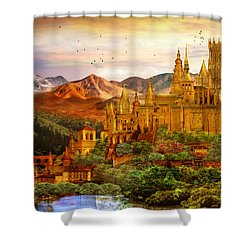 City Of Gold Shower Curtain by Mary Hood