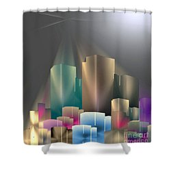 City Of Light 5-2 2016 Shower Curtain