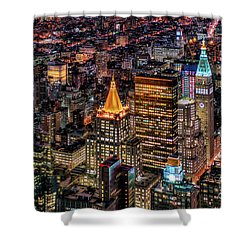 City Of Lights - Nyc Shower Curtain