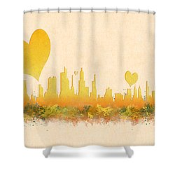 City Of Love Shower Curtain