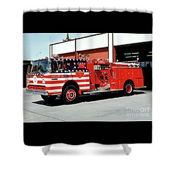 City Of Napa Van Pelt Engine 3 Shower Curtain