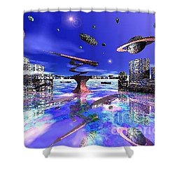 City Of New Horizions Shower Curtain