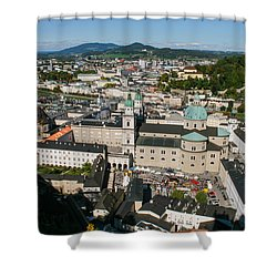 Shower Curtain featuring the photograph City Of Salzburg by Silvia Bruno