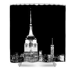 City Of The Night Shower Curtain by Az Jackson