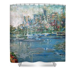 City On The Bay Shower Curtain by John Fish