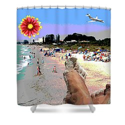 City On The Gluf Shower Curtain by Charles Shoup