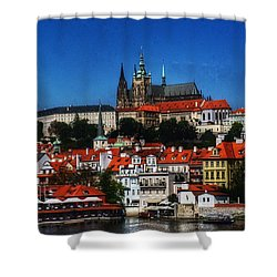 City On The River IIi Shower Curtain