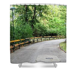 City Park, Vienna Shower Curtain