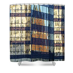City Reflections 1 Shower Curtain by Anita Burgermeister
