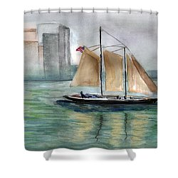 City Sail Shower Curtain