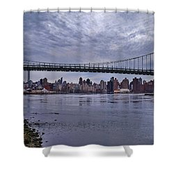City Scape From Astoria Park Shower Curtain by Mikki Cucuzzo