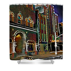 Shower Curtain featuring the photograph City Scene by EricaMaxine  Price