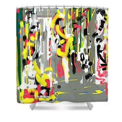 City Shopers Shower Curtain
