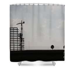 Shower Curtain featuring the photograph City Silhouette #2 by Brian Boyle