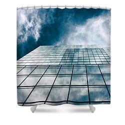 Shower Curtain featuring the photograph City Sky Light by Jessica Jenney