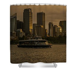 City Skyline  Shower Curtain by Andrew Matwijec