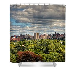 City Skyline Shower Curtain by Everet Regal
