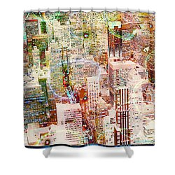 City Snowstorm Shower Curtain by Barbara Berney