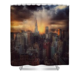 City Splendor - Sunset In New York Shower Curtain