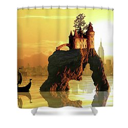 City Stack Shower Curtain