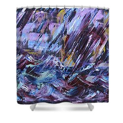 City Storm Abstract Shower Curtain