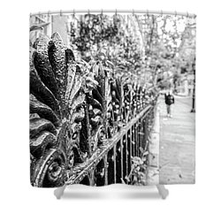 Shower Curtain featuring the photograph City Street by Ana V Ramirez