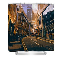 City Street Shower Curtain