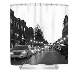 City Streets Shower Curtain by Russell Keating