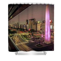 City Sunset Shower Curtain by Andrew Matwijec