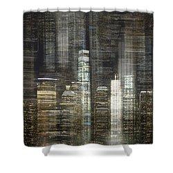 City Tetris Shower Curtain