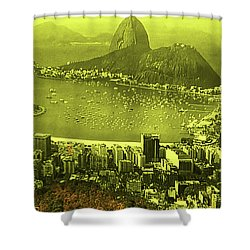 City That Never Sleeps Shower Curtain by Dennis Baswell