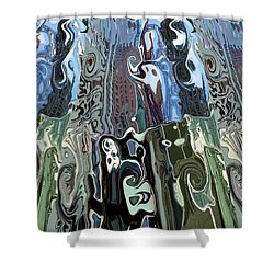 City Towers Shower Curtain