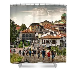 City - Veliko Tarnovo Bulgaria Europe Shower Curtain