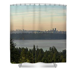 City View Of Vancouver And Burnaby Bc Shower Curtain by David Gn
