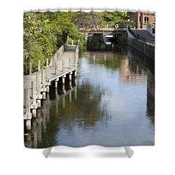 City Waterway Shower Curtain by Tara Lynn