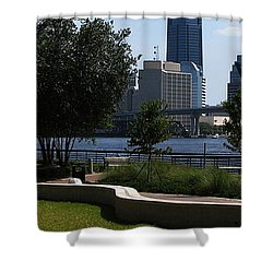 City Way Shower Curtain by Greg Patzer
