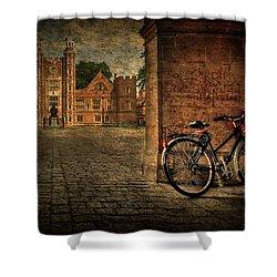 City Wheels Shower Curtain by Evelina Kremsdorf