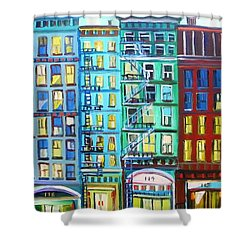 City Windows Shower Curtain