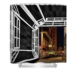 Shower Curtain featuring the photograph Citycenter Gateway - Washington by Stuart Litoff